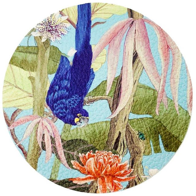 Allison Cosmos Palm Beach Paradise by Allison Cosmos Placemats - Set of 4 For Sale - Image 4 of 6