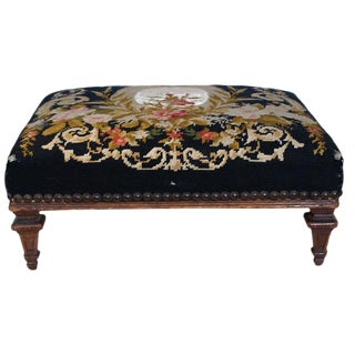 Early 19th Century French Fruitwood Foot Stool For Sale