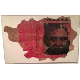 Johnny Cash Modern Print on Pig Hide