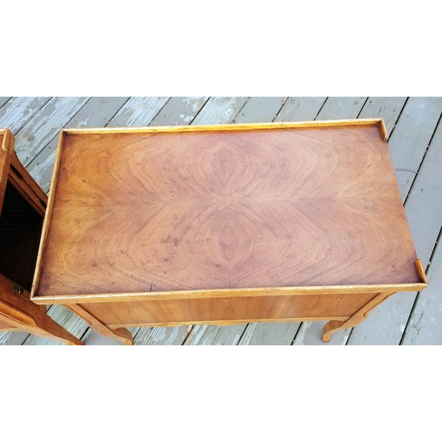 1980s French Walnut End Tables - a Pair For Sale - Image 10 of 13