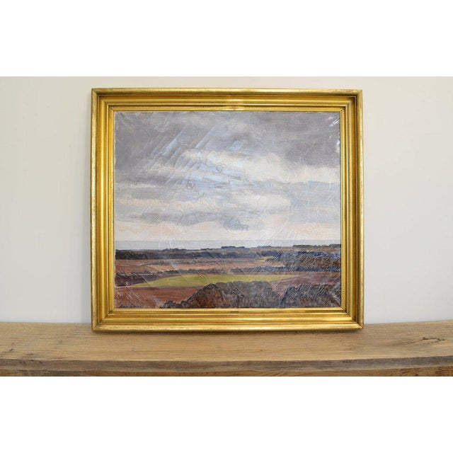 Mid 20th Century Landscape Painting by Lars Swane For Sale - Image 5 of 5