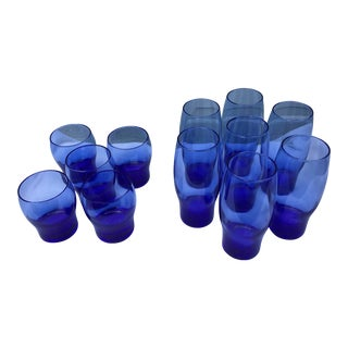 Libbey Perception Blue Glasses - Set of 12 For Sale