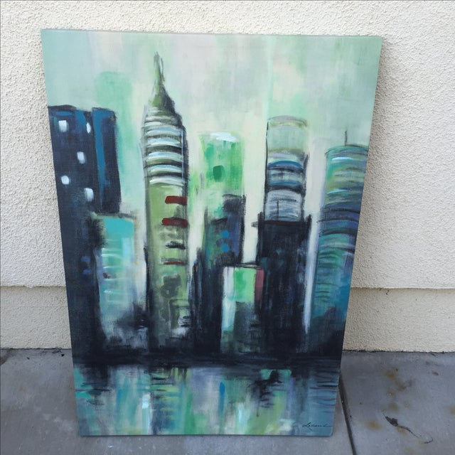 Twilight Cityscape on Canvas - Image 3 of 11