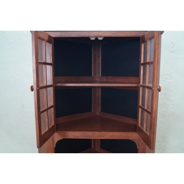 Custom Quality Solid Maple Country Corner Cabinet - Image 9 of 9