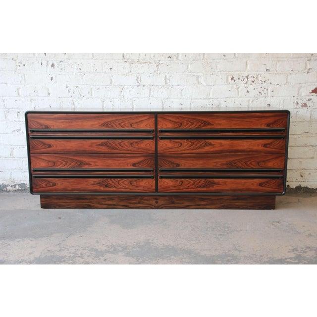 Westnofa Scandinavian Modern Rosewood Long Dresser For Sale - Image 11 of 11