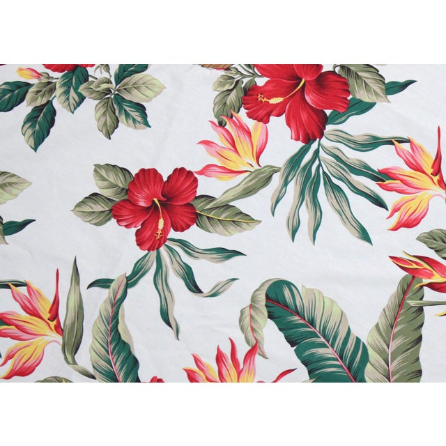 """Inspired by the Mid-Century Americana Polynesian classic """"Beach Bounty"""" pattern by Tommy Bahama, this island tree skirt is..."""