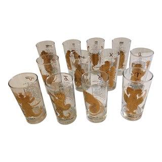 Horoscope Highball Glasses - Set of 12
