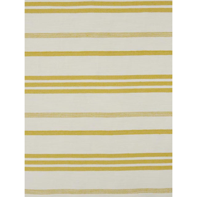 Transitional Sample, Scalamandre Marina Stripe Pastis Fabric For Sale - Image 3 of 3