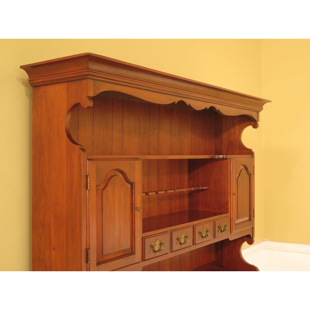 Cherry Wood Henkel Harris Cherry 2-Piece China Hutch For Sale - Image 7 of 11