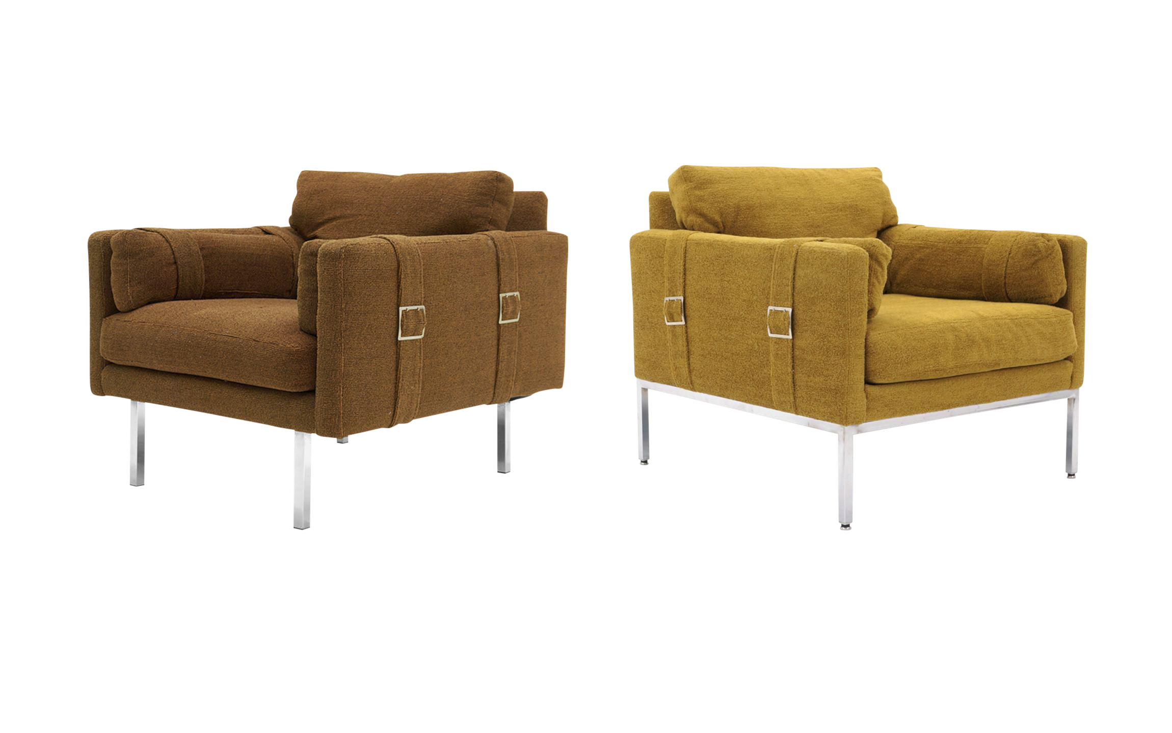 milo baughman furniture. Original Complimenting Pair Of Milo Baughman Lounge Chairs - Image 1 10 Furniture H