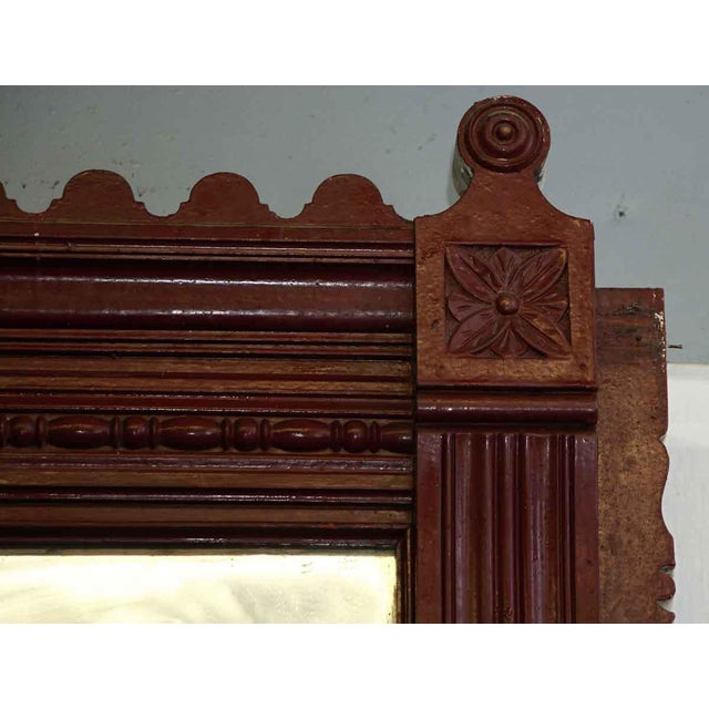 Eastlake Style Wood Fireplace Mantel Distressed Mirror Chairish