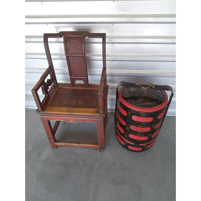 Late 19th Century Antique Chinese Officials Chair For Sale - Image 12 of 13