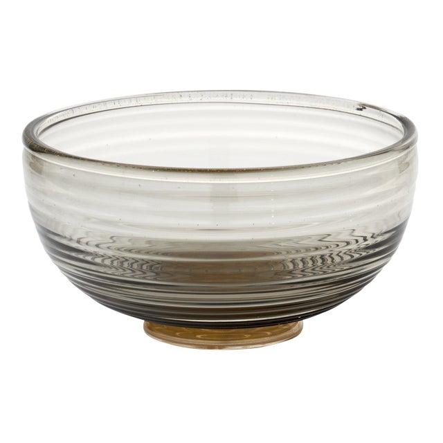 Contemporary Gray and Avventurina Murano Glass Bowl For Sale