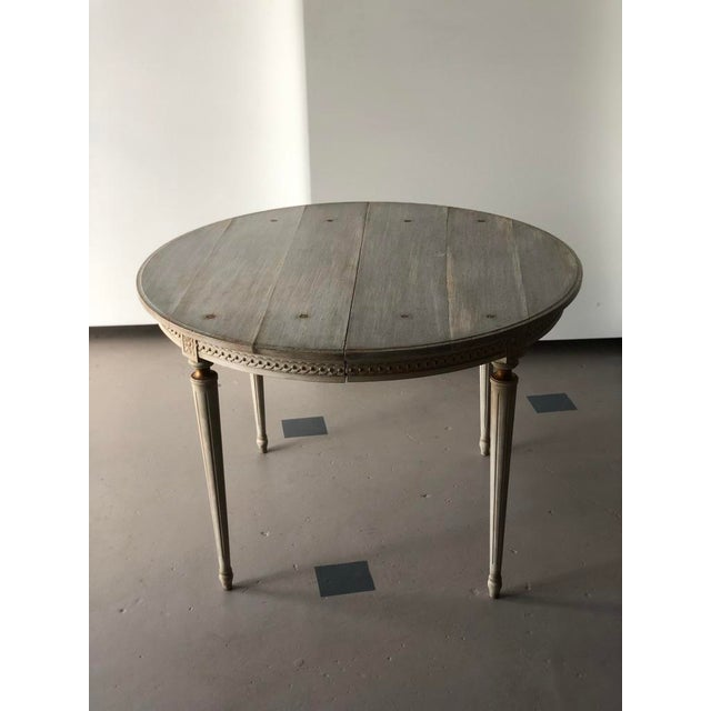 Abstract Faux Board and Tack Dining Table For Sale - Image 3 of 10