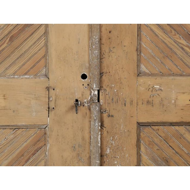 Wood Antique 1890s American Garage or Barn Doors - a Pair For Sale - Image 7 of 13