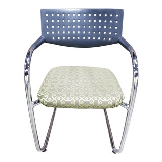Contemporary Vitra Chrome and Plastic Side Chair For Sale