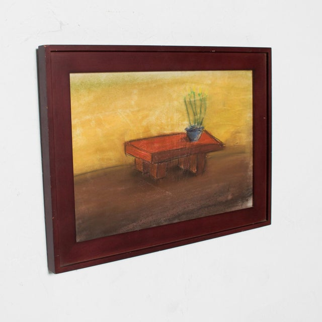 1990s Pastel Paper Drawing Table - Still Life by P. Romo For Sale - Image 5 of 6