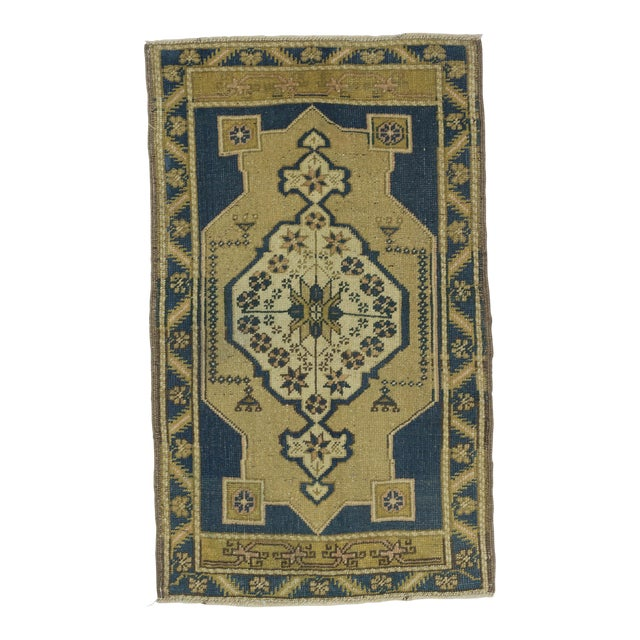 1960s Turkish Mini Wool Carpet For Sale