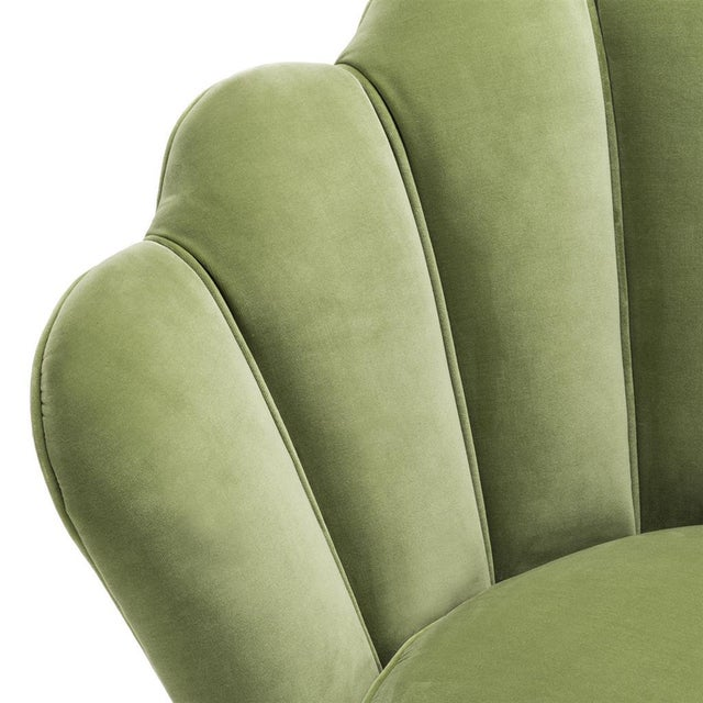 2010s Modern Trapezium Green Shell Shaped Chair For Sale - Image 5 of 8