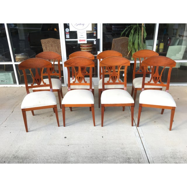 1990s Regency Dining Chairs - Set of 8 For Sale In Raleigh - Image 6 of 6