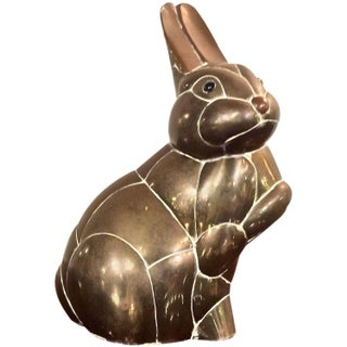 Brass Bunny Rabbit Sculpture For Sale