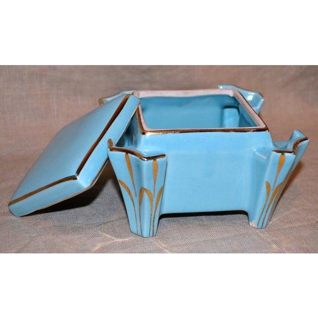 Canonsburg China Art Deco Cigarette Box For Sale - Image 4 of 12