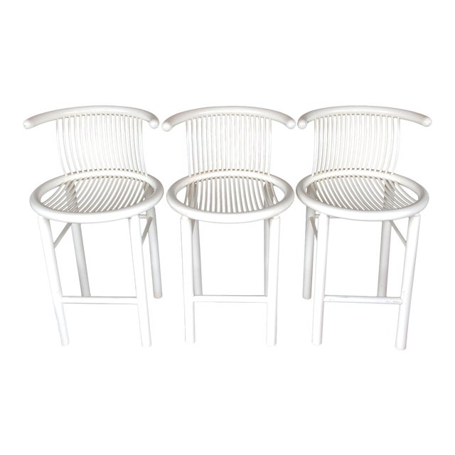 Helmut Lübke Sculptural Bar Stools - Set of 3 - Image 1 of 11