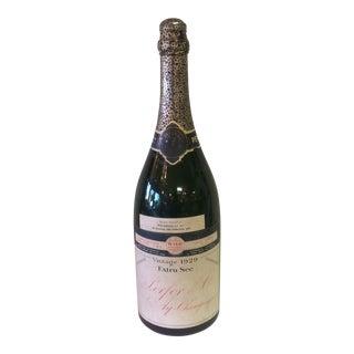 Vintage 1929 French Champagne Bottle - Prohibition Era For Sale