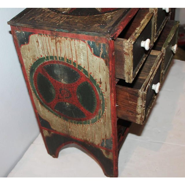 19th Century Original Paint Decorated Tabletop Apothecary Cabinet - Image 6 of 8