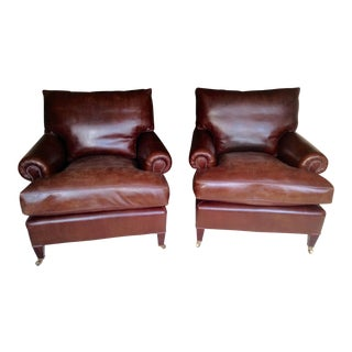 Leather George Smith Club Chairs - A Pair
