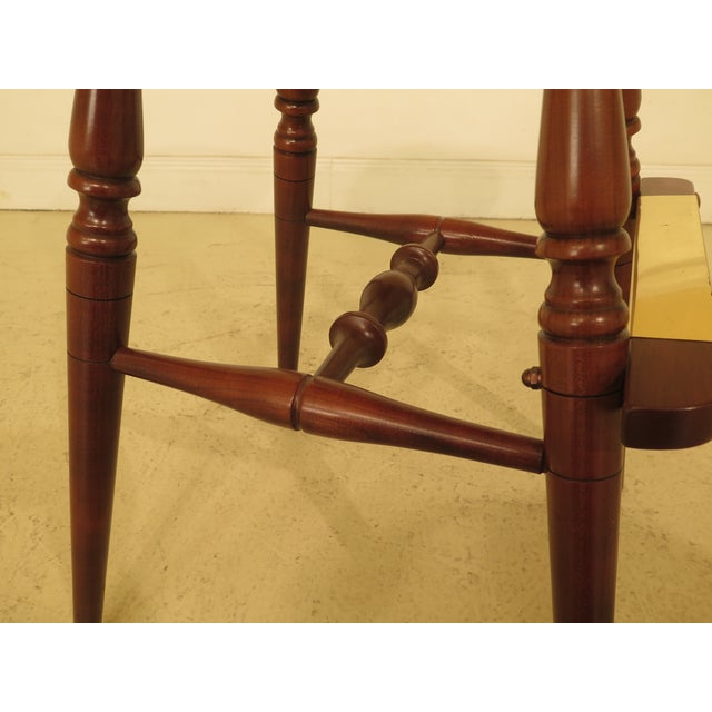 Wood Frederick Duckloe Cherry Saddle Seat High Seat Bar Stools - Set of 3 For Sale - Image 7 of 11