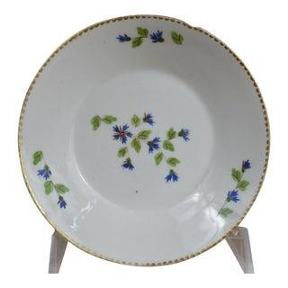 Antique Old Paris French Cornflower Sprig Dessert Bowl