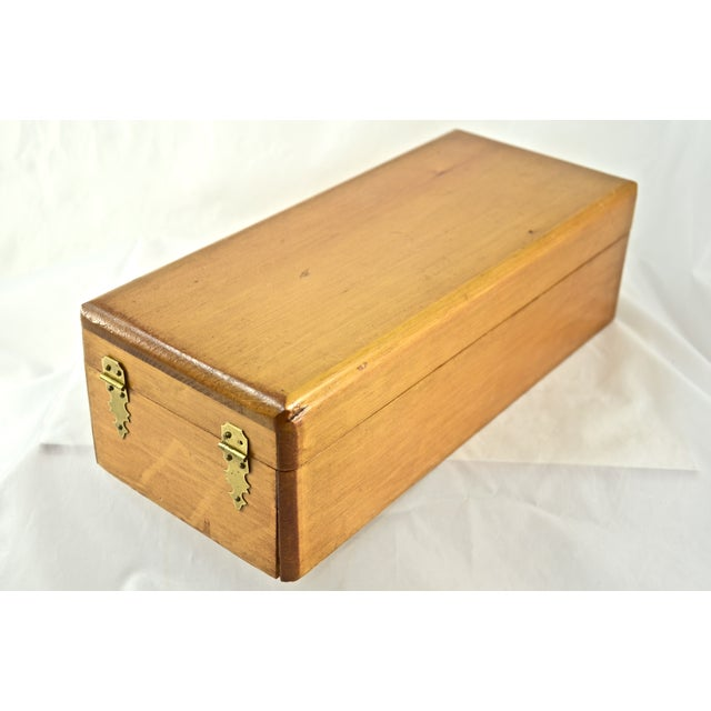 Handcrafted Wood Box with Dividers Inside - Image 4 of 7