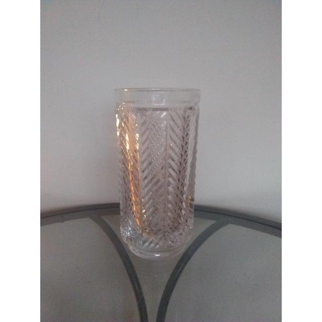 """Ralph Lauren Vintage Ralph Lauren """"Herringbone"""" Crystal Vase For Sale - Image 4 of 5"""