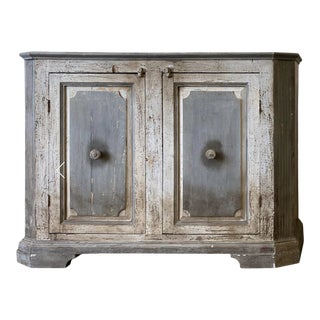 Tuscan Antique Sideboard Buffet Cabinet For Sale