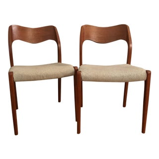 Vintage Mid Century Danish Modern Niels Otto Moller Dining Chairs- a Pair For Sale