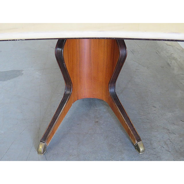 Mid-Century Modern Borsani Marble Top Dining Room Table For Sale - Image 3 of 11