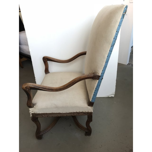 Mid 18th Century 18th Century French Walnut Louis XIII Armchair For Sale - Image 5 of 8
