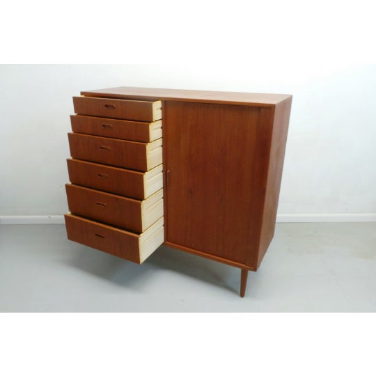 1960s 1960s Mid Century Danish Modern Teak Gentleman's Chest By Falster For Sale - Image 5 of 9