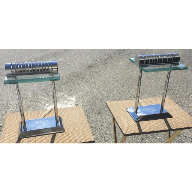 Modern Chrome Lamps - a Pair For Sale - Image 12 of 12