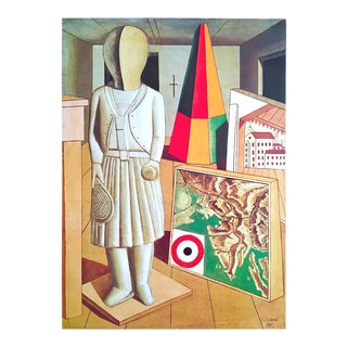 "Carlo Carra Rare Vintage 1980 Dumont Art Calendar Collector's Lithograph Print Poster "" Musametafisica "" 1917 For Sale"