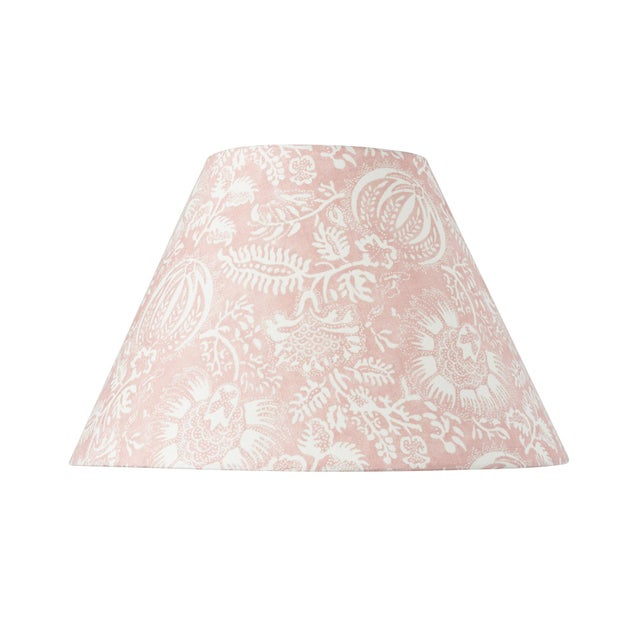 Early 21st Century Schumacher Pomegranate Print Linen Lampshade in Petal For Sale - Image 5 of 5