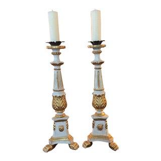 19th Century Italian Altar Sticks - a Pair For Sale