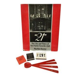 "Vintage ""21"" Club Book Memorabilia - 8 Pc. Set For Sale"
