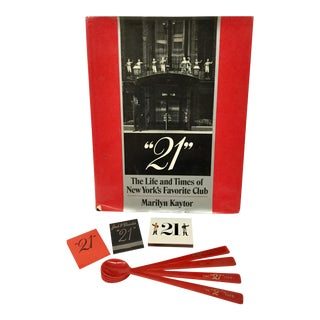 Vintage 21 Club Book Memorabilia - 8 Piece Set For Sale