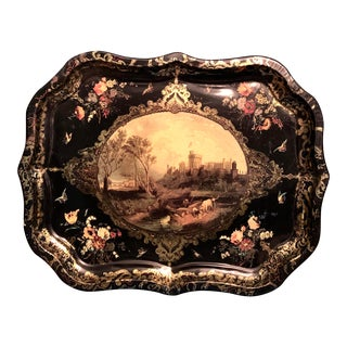 English Castle Serving Tray For Sale