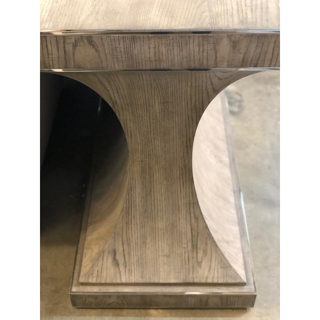 A Secret Warehouse Contemporary Gray Finish Console Table For Sale - Image 4 of 6