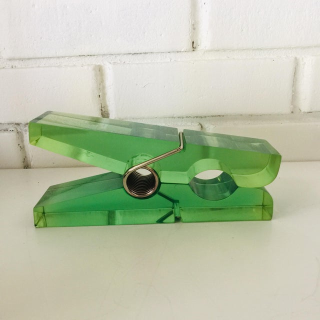 Giant Green Lucite Clothespin For Sale - Image 4 of 10