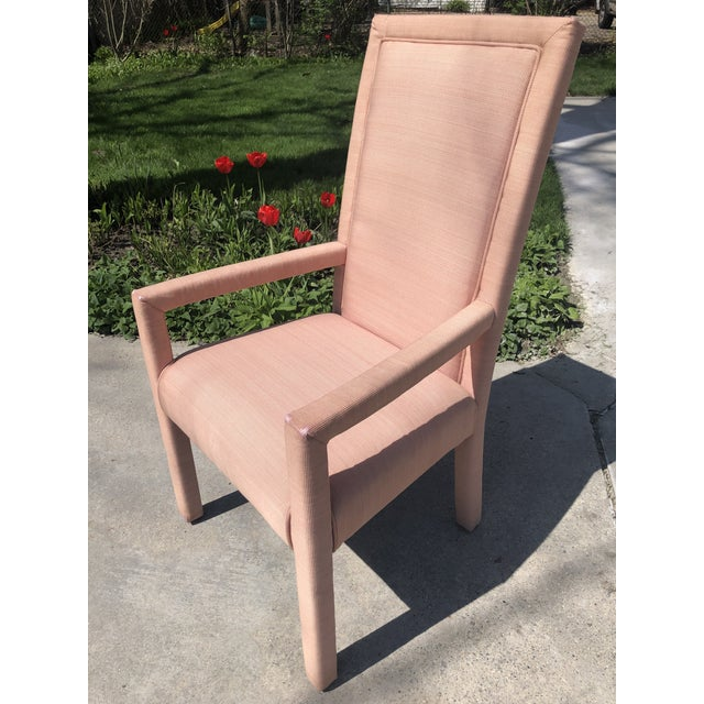 1970s Vintage Hollywood Regency Upholstered Parsons Chair For Sale - Image 13 of 13