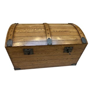 Johnathan Charles Wooden Trunk For Sale